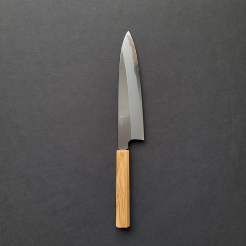 Hitohira Togashi White #1 Migaki Gyuto 210mm Olive Wood Handle