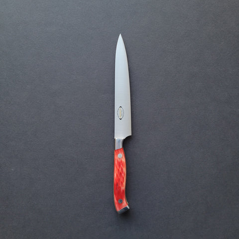 Nenox RED Petty 150mm Red Jigged Bone Handle