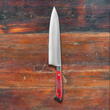 Nenox RED Gyuto 210mm Red Jigged Bone Handle | Tosho Knife Arts