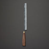 Daitoku Blue #2 Kurouchi Bread Knife 240mm Walnut Handle | Tosho Knife Arts