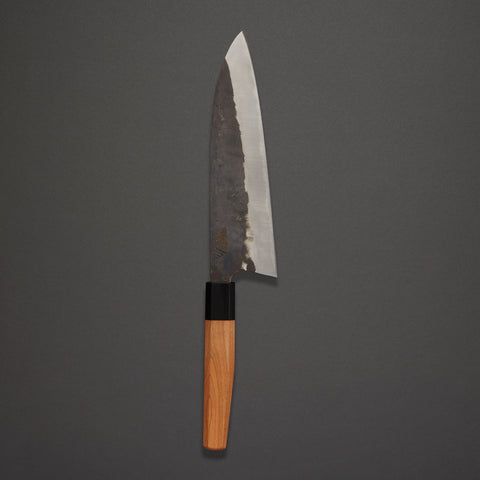 Asano Kajiya Kurouchi Santoku 200mm Yew Handle