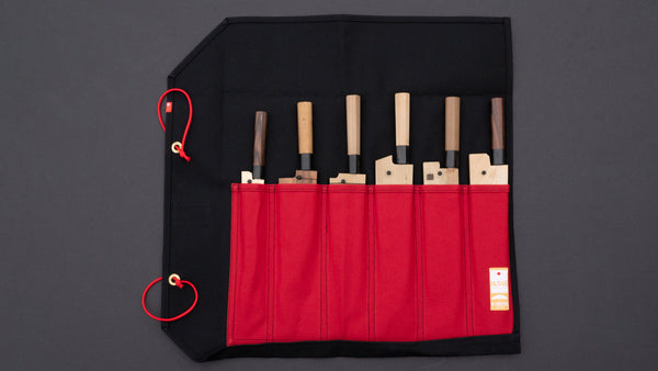HI-CONDITION Hanpu Canvas 6 Pockets Knife Roll Tosho Edition
