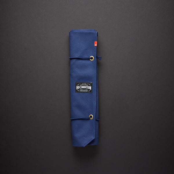 HI-CONDITION HANPU CANVAS 6 POCKETS KNIFE ROLL Navy