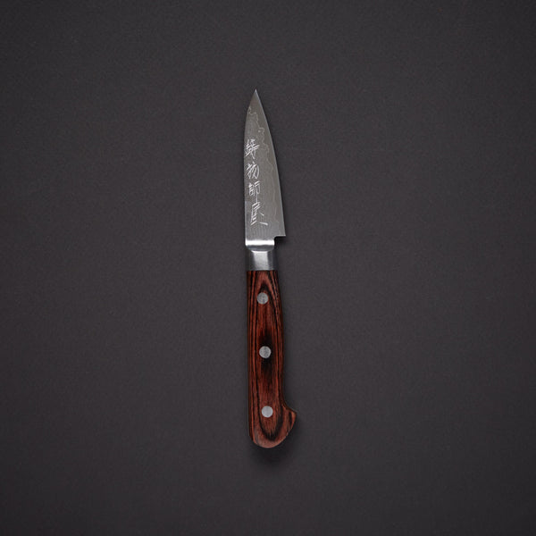 Hitohira Imojiya ST VG10 Damascus Paring 80mm Mahogany Handle