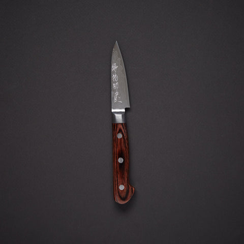 Hitohira Imojiya VG10 Damascus Paring 80mm Mahogany Handle