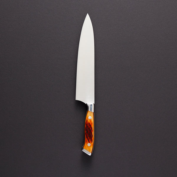 Nenox Amber Jigged Bone Gyuto 210mm Amber Jigged Bone Handle