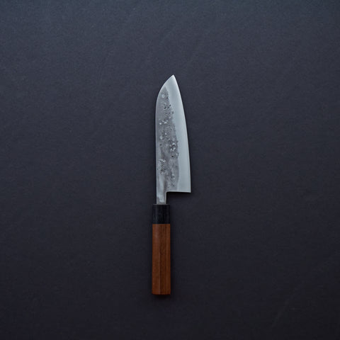 Tadafusa Nashiji Blue #2 Santoku 165mm Walnut Handle