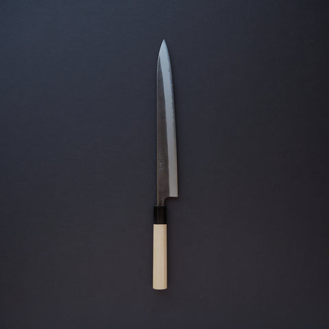 Toshihiro Wakui Nashiji White #2 Stainless Clad Sujihiki 270mm Ho Wood Handle