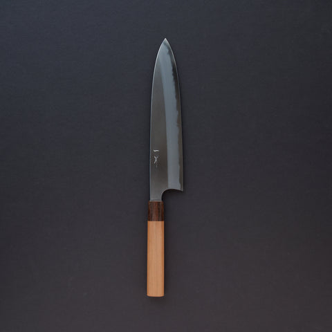 Hitohira Togashi White #1 Migaki Gyuto 240mm Cherry Wood Handle