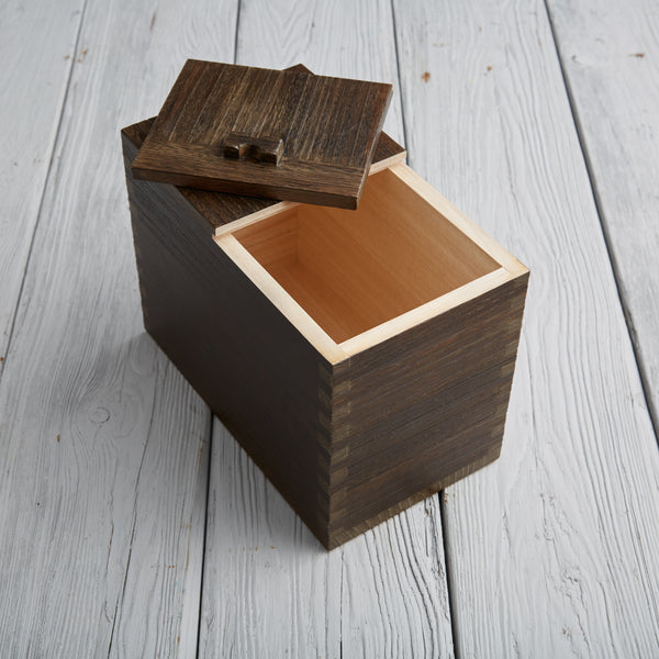 Kiri Marron Paulownia Rice Box (Burnt Finish)