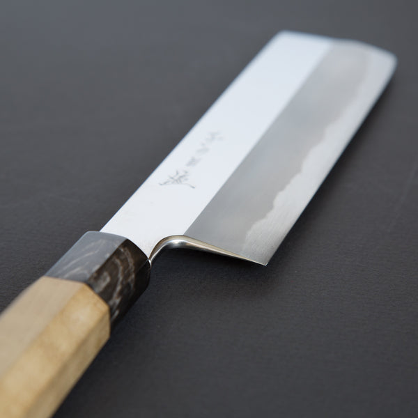 Nenohi Hon-Kasumi Blue Usuba 210mm Ho Wood Handle (Mirror Polished) | Tosho Knife Arts