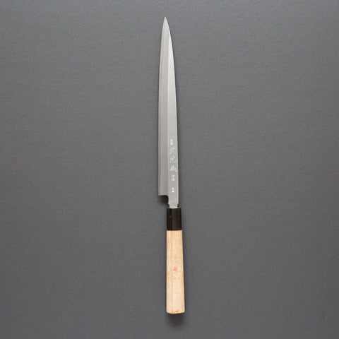 Hisamoto High Carbon Steel<br>240mm Left-Handed Fugubiki