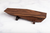 "West elk ""Valnot"" Walnut Serving Board With Mahogany Legs (Medium)"