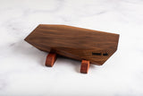 "West elk ""Valnot"" Walnut Serving Board With Mahogany Legs (Small)"
