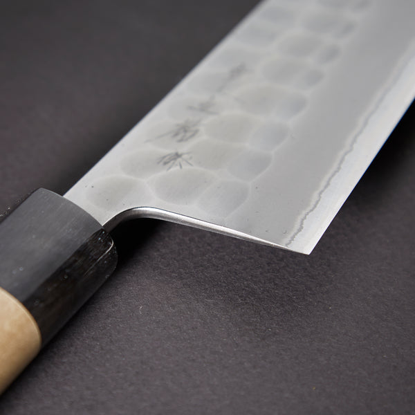 Konosuke Sanjo Tsuchime White #2 Santoku 165mm Ho Wood Handle