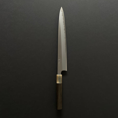Hitohira Togashi White #1 Stainless Clad Sujihiki 300mm Taihei Ebony Handle