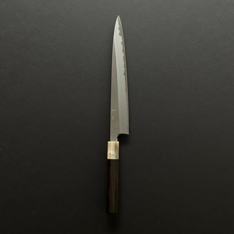 Hitohira Togashi White #1 Stainless Clad Sujihiki 270mm Taihei Ebony Handle
