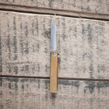 Higonokami Blue Steel Folding Knife Mini Brass Handle | Tosho Knife Arts