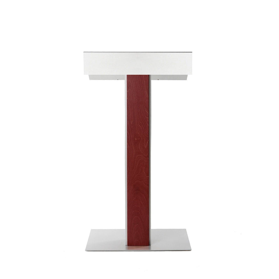 Y55 lectern / podium from Urbann Products - Mahogany - front view