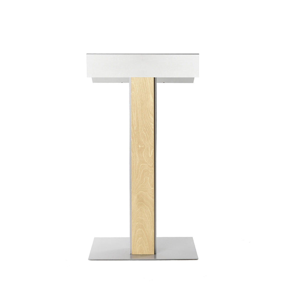 Y55 lectern / podium from Urbann Products - Natural - front view