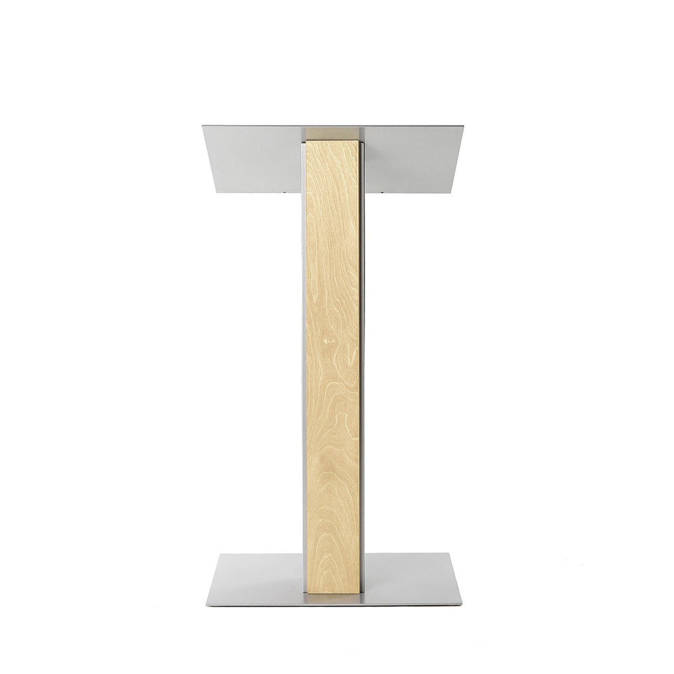 Y5 lectern / podium from Urbann Products - Natural wood - front view