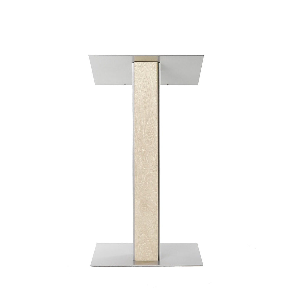 Y5 lectern / podium from Urbann Products - Unfinished wood - front view