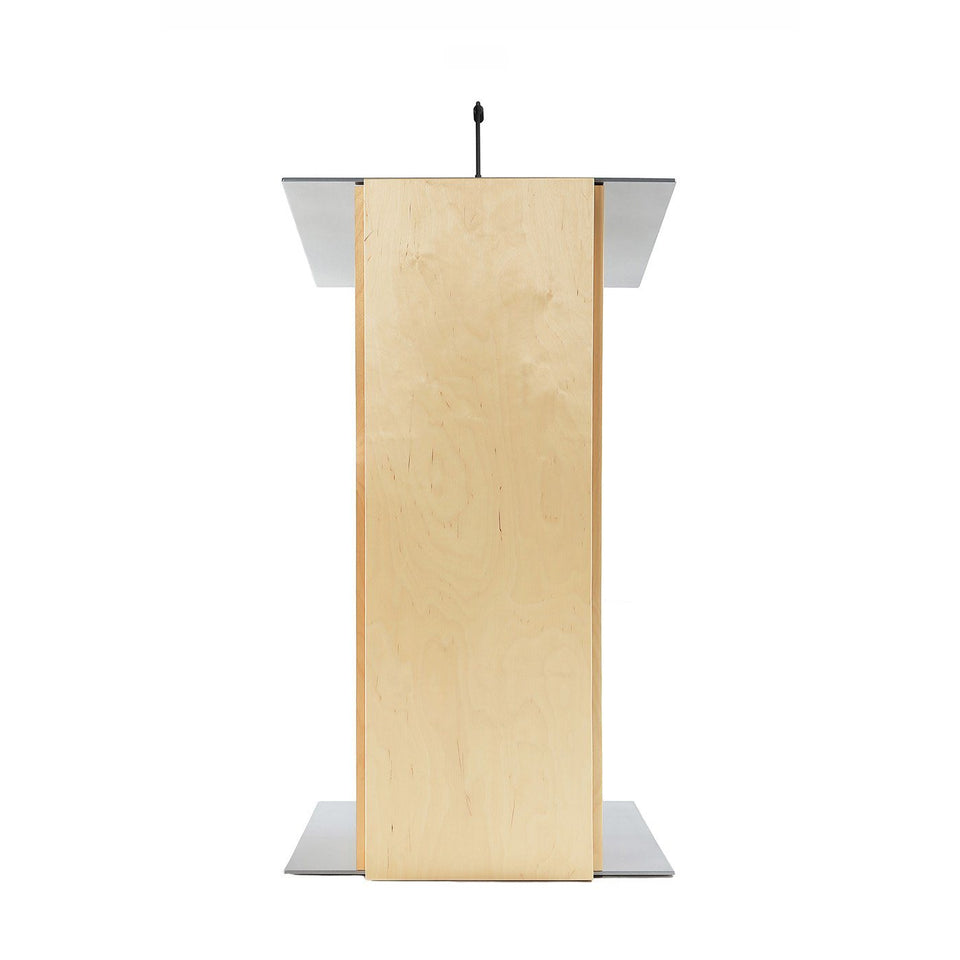 K2 lectern Natural / wooden podium from Urbann Products front view