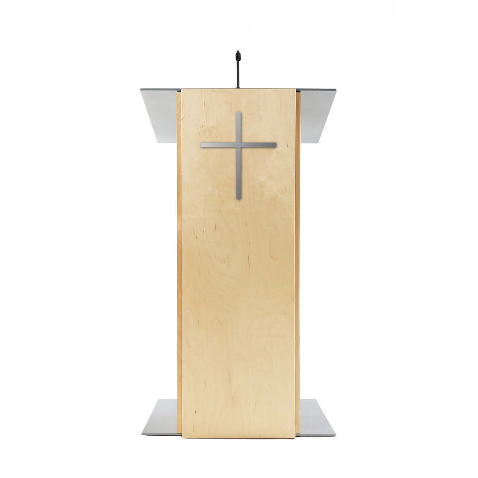 K2 lectern Natural / wooden podium from Urbann Products front view - Church