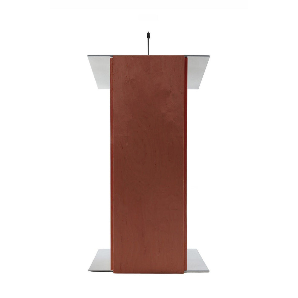 K2 lectern Full Mahogany / wooden podium from Urbann Products front view