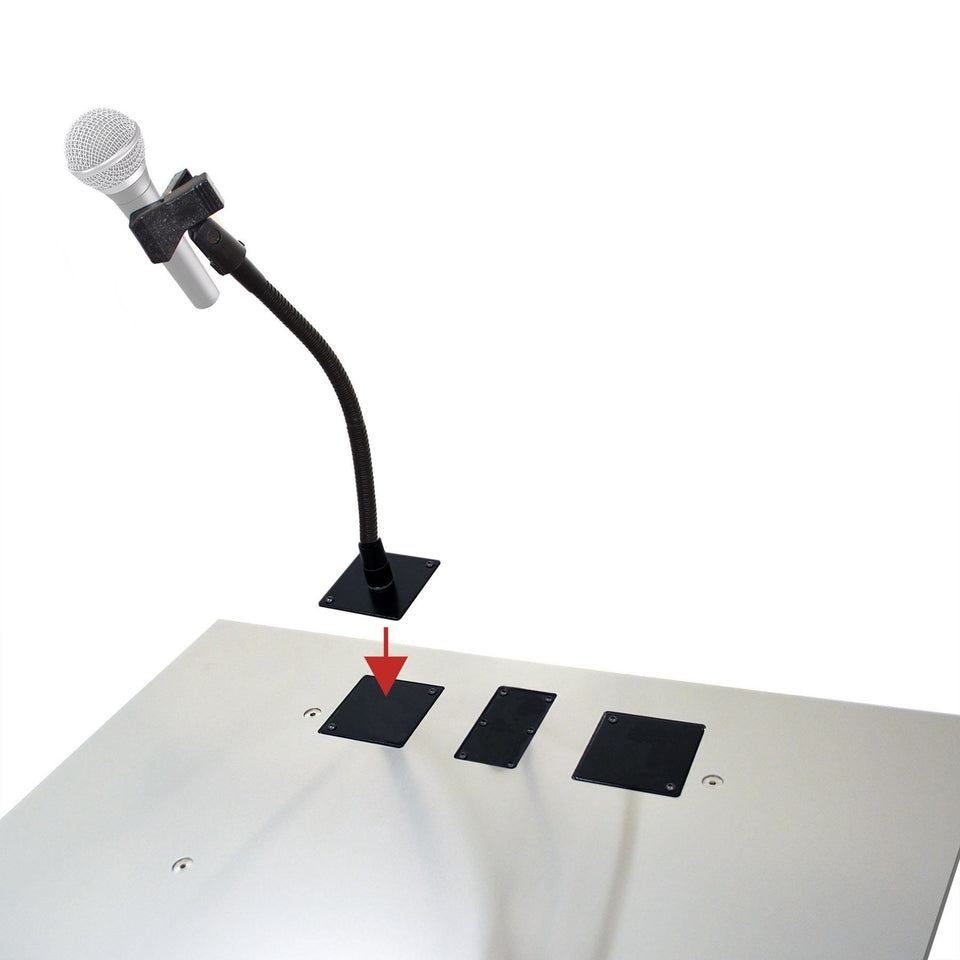 Microphone holder with clip