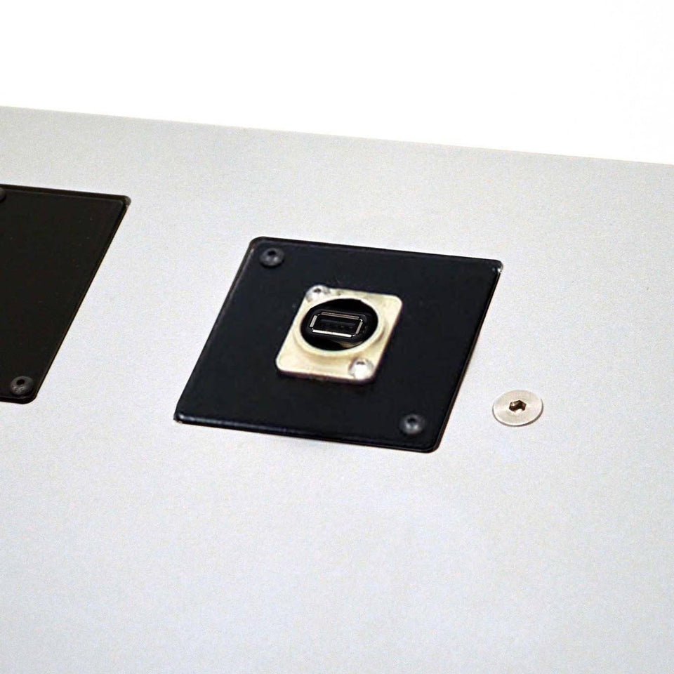 USB connector module for lectern / podium by Urbann - side view