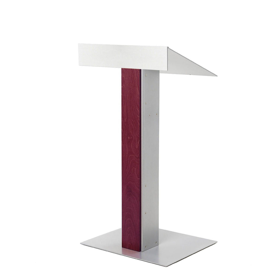 Y55 lectern / podium from Urbann Products - Mahogany - side view