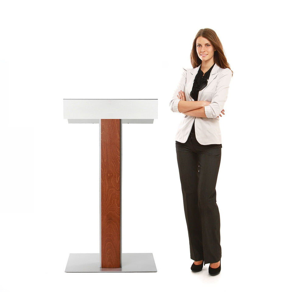 Y55 lectern / podium from Urbann Products with woman