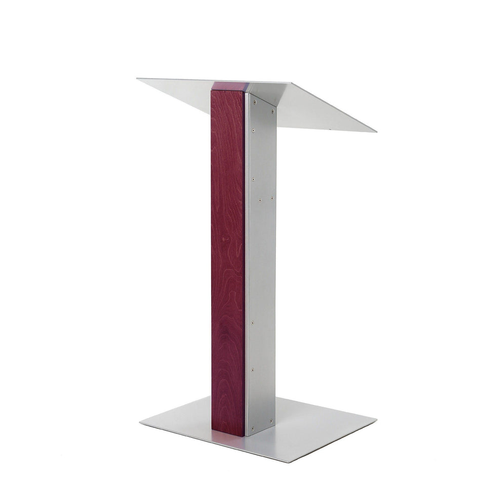 Y5 lectern / podium from Urbann Products - Mahogany - side view