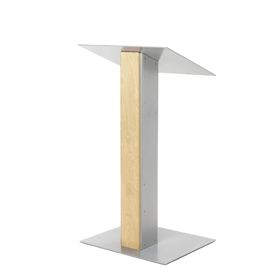 Y5 lectern / podium from Urbann Products - Natural wood - side view