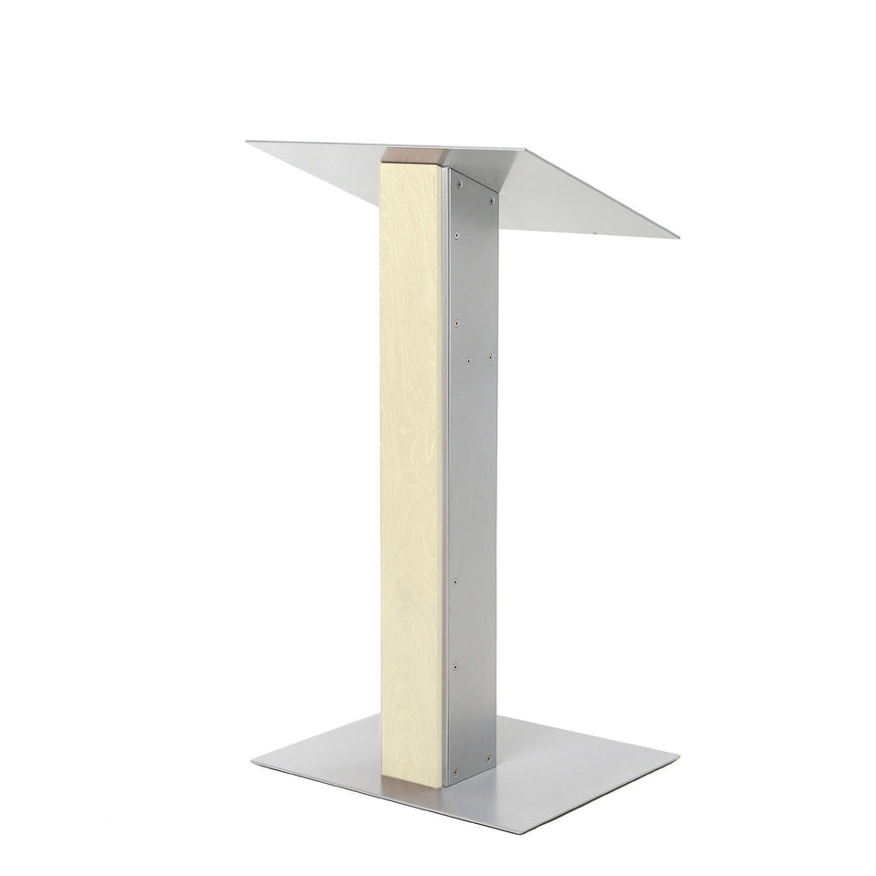 Y5 lectern / podium from Urbann Products - Unfinished wood - side view