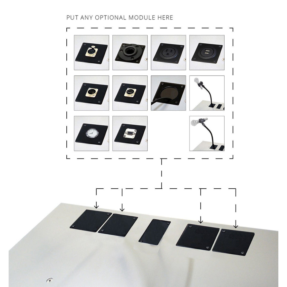 Urbann - family of modular options for lecterns