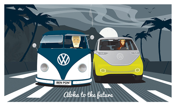 Aloha to the future Print