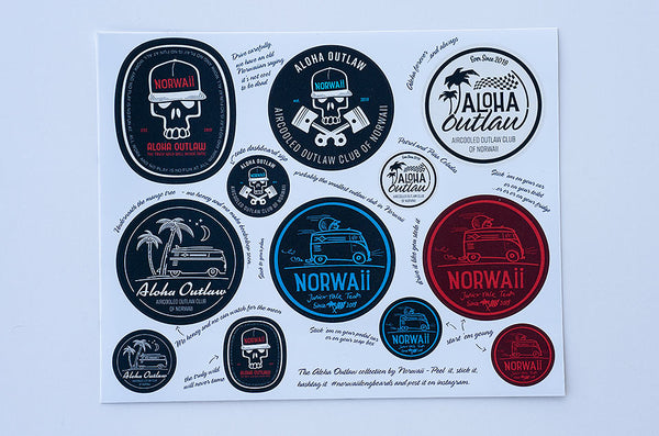 Aloha Outlaw Collection Sticker Pack