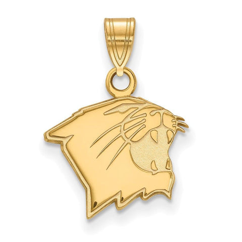 Northwestern Wildcats Small Pendant 14k Gold Plate