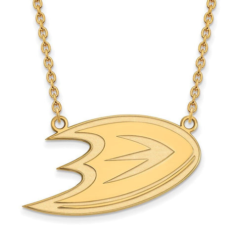 Anaheim Ducks Large Pendant w/ Necklace