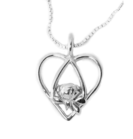 Memorial Tear Heart Sterling Pendant