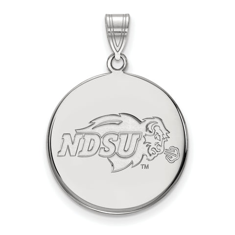 North Dakota State Bison Large Disc Pendant