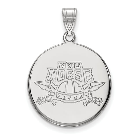 Northern Kentucky Norse Large Disc Pendant 10k White Gold
