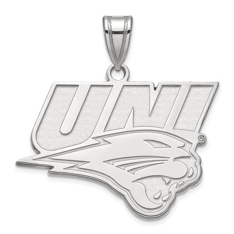 Northern Iowa Panthers Large Pendant 10k White Gold