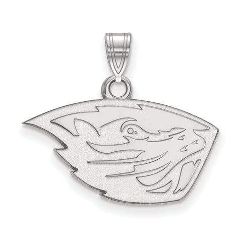Oregon State Beavers Small Pendant 10k White Gold