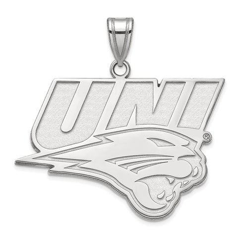 Northern Iowa Panthers XL Pendant 10k White Gold