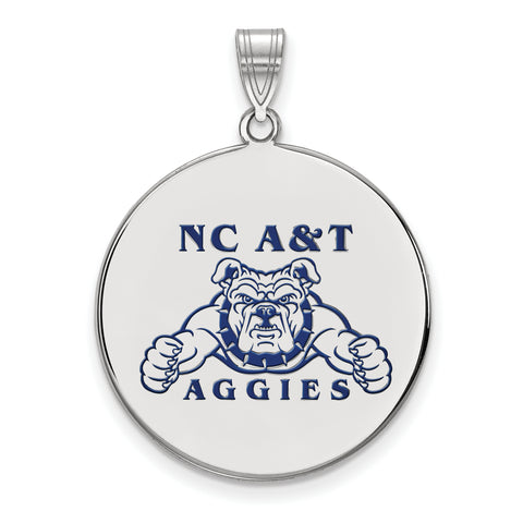 North Carolina A&T Aggies XLarge Enamel Disc Pendant
