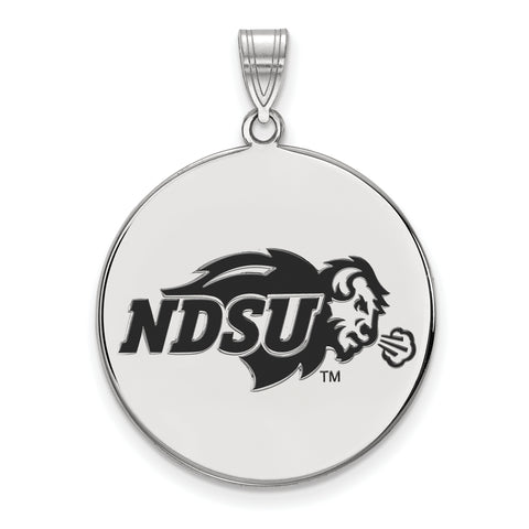 North Dakota State Bison XLarge Enamel Disc Pendant