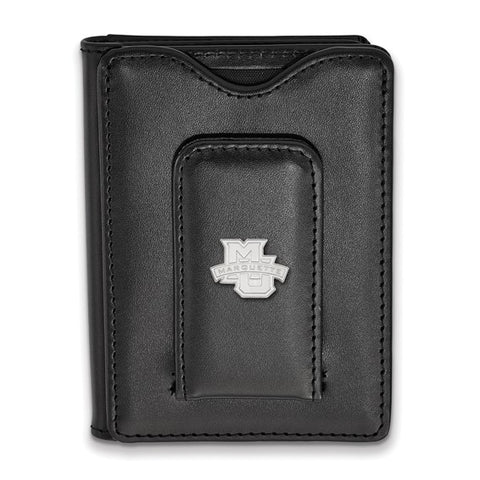 Marquette Golden Eagles Black Leather Wallet